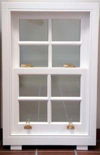 BMB Box Sash Window - White paint on Pine softwood